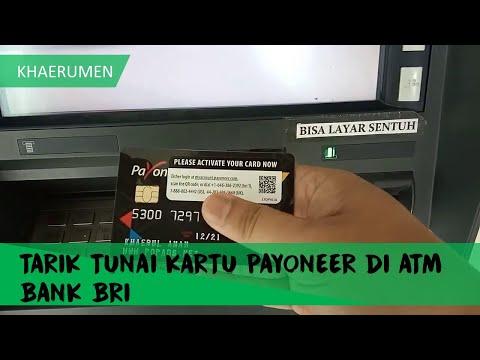 Cara Tarik Tunai Kartu PAYONEER di Mesin ATM Bank BRI Terbaru 2019