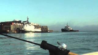 The tugs Mary Catherine, Natoma, and barge Nestucca on Coos Bay