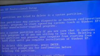 How to Format a Hard Drive With Windows XP