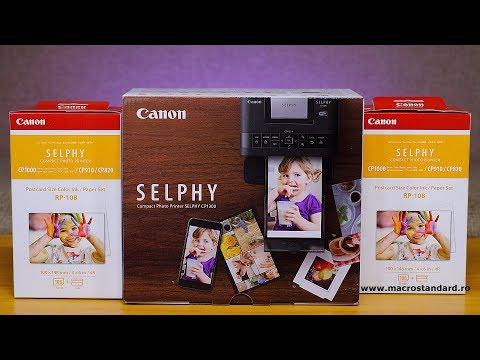 Cat de buna este imprimanta foto mobila Canon Selphy CP1300 si cartusul Canon RP-108