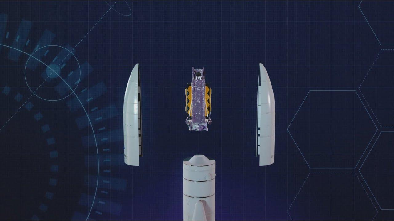 La NASA pone por primera vez el Telescopio Espacial James Webb en su configuración de lanzamiento
