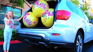 Whole Car Giant LOL Confetti POP Video for kids