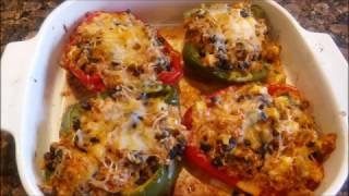 How to cook Vegetarian Mexican stuffed Peppers Recipe