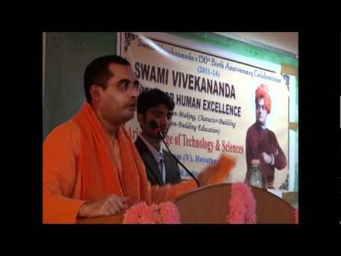Values In Education | Swami Bodhamayananda | Arjun College