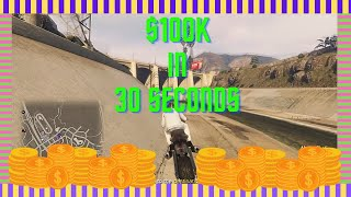 GTA 5 Storm Drain Time Trial 100k In 30 seconds Money Making Guide Tutorial