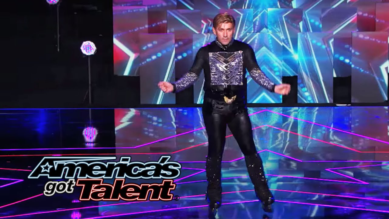 "Juan Carlos: Outrageous Rollerblader Dances to ""Big Spender"" - America's Got Talent 2014 thumbnail"