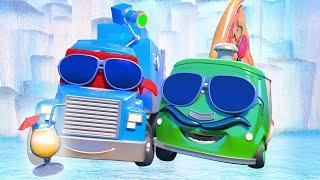 Dondurucu ışınlı Kamyon - Süper Kamyon Carl Araba şehrinde 🚚 ⍟ Çocuklar Için çizgi Filmler