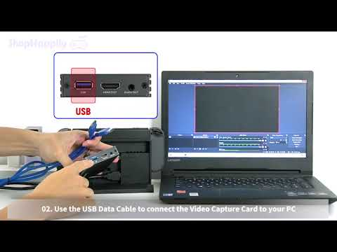 4K HDMI to USB3.0 Video Capture Card Setup Tutorial with obs studio