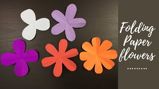 3, 4, 5, 6, 8 petal paper flowers/ How to make  paper flowers shapes | Easy paper cutting flower /