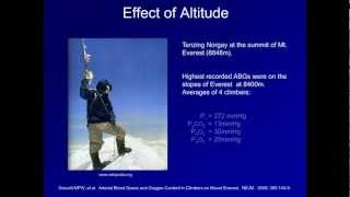 The Effect of High Altitude on Oxygenation (ABG Interpretation - Supplemental Video)