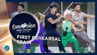 Spain 🇪🇸   Miki   La Venda   First Rehearsal   Eurovision 2019