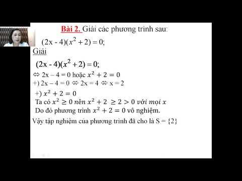 Toán 8: Phương trình tích