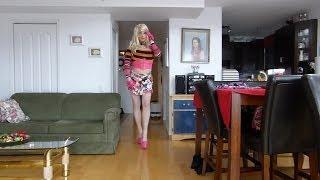 female mask transvestite boy love pink