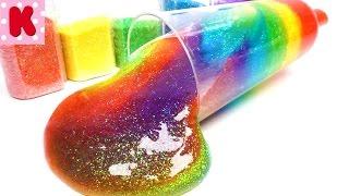 DIY КРИСТАЛЬНЫЙ ЛИЗУН. ЛИЗУН С БЛЕСТКАМИ DIY Clear Galaxy Slime Liquid Glitter Slime