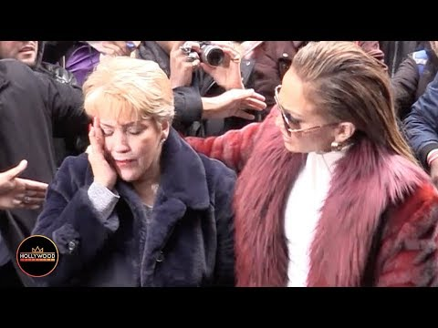 JLo's Mom Gets Elbowed in the Face