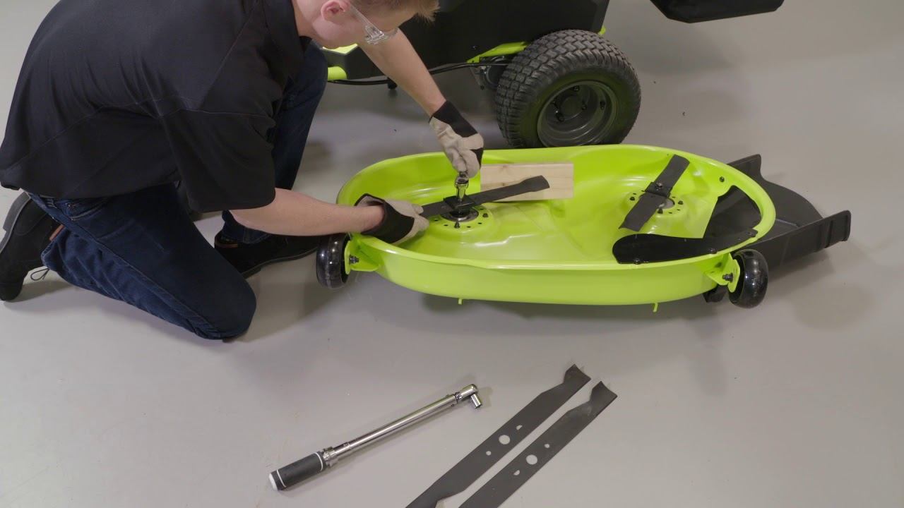 How To Install Riding Mower Blades Ryobi Landscapes
