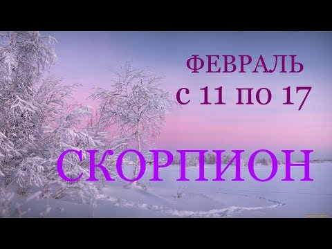 СКОРПИОН. ТАРО-ПРОГНОЗ на НЕДЕЛЮ с 11 по 17 ФЕВРАЛЯ 2019г.