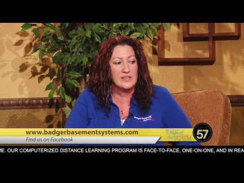 When Becky was asked to speak about Badger Basement Systems on the show The Talk of the Town, she didn't hesitate.  The show, which is aired on the CW, is the place where people in South Central Wisconsin can find out what is going on in and around their communities.  We were very happy to be invited on the show and to share our business with all of you.