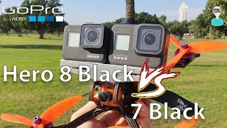 GoPro Hero 8 Black Vs Hero 7 Black Racing Drone Footage Side By Side Comparison