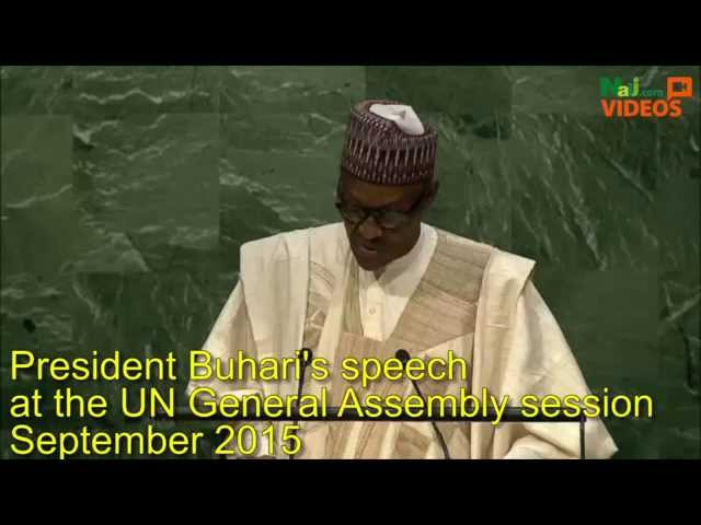 Buhari Speech at UN General Assembly