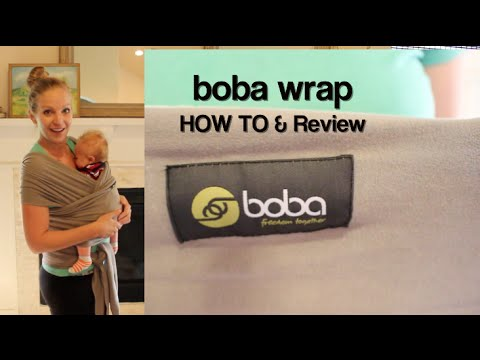 Boba Wrap Classic Baby Carrier – HOW TO Use/Tie and Review