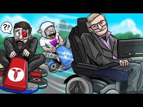Mario Kart 8 Deluxe Funny Moments: X-Rated Microphone & Stephen Hawking Will Sue Us!