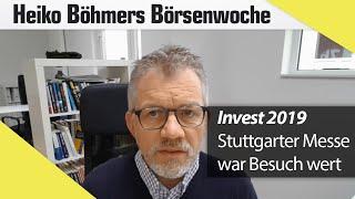 Invest 2019 Rückblick: Es hat sich wieder gelohnt