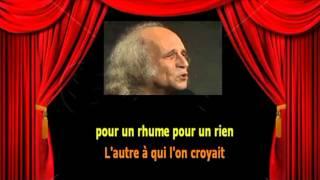 Karaoké Léo Ferré   Avec le temps