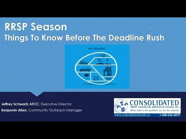 Saving for Retirement - Registered Retirement Savings Plan Season [Webinar]
