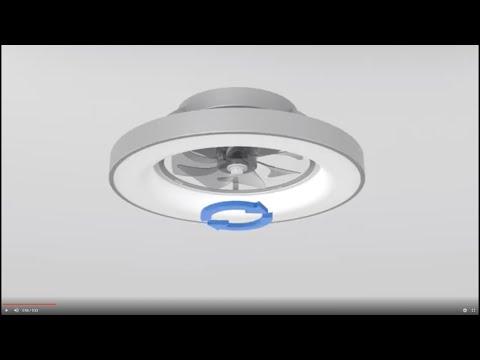 TIBET Plafón Ventilador LED 70W 35WLED Diseñado por JOSÉ IGNACIO BALLESTER Para Mantra