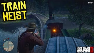 Red Dead Redemption 2 - ROBBING EVERYTHING! Train Heist, Stealing From Mansions & Making Money!