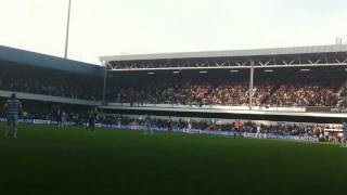 preview picture of video 'Queens Park Rangers (QPR) vs. Chelsea, Loftus Road, Sec. T, Row A, Seat 83, October 23, 2011 4:18PM'