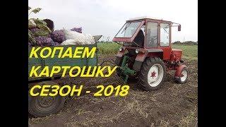 КОПАЕМ КАРТОФЕЛЬ ТРАКТОРОМ Т-25,СЕЗОН 2018/DRINK POTATOES BY TRACTOR T-25, SEASON 2018