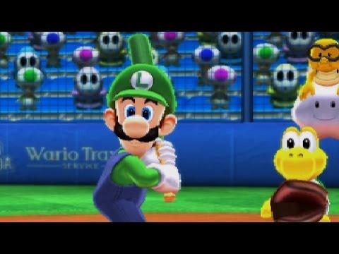 Mario Sports Superstars: Baseball Exhibition - Team Luigi VS Team Bowser
