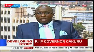 Speaker of Nyeri county assembly, John Kaguchia eulogizing the late Dr. Wahome Gakuru
