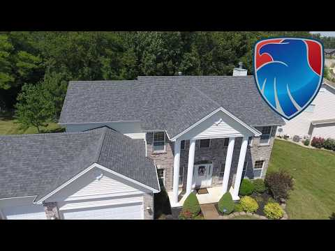 This Wentzville MO home owner could not be happier with their new roof. We worked with the home owners insurance company after storm damage totalled the old roof. We tear off every roof replacement job down to the bare plywood.
