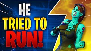 HE TRIED TO RUN! Feat. C9 Zoof (Fortnite Battle Royale)