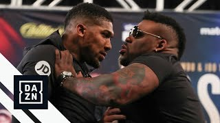 """Jarrell """"Big Baby"""" Miller Shoves Anthony Joshua at Launch Press Conference"""