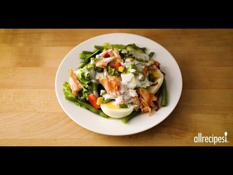 How to Make Layered Salmon Cobb Salad | Salad Recipes | Allrecipes.com