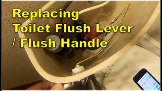 Replacing Toilet Flush Lever / Flush Handle - Metal Arm - Less than $5