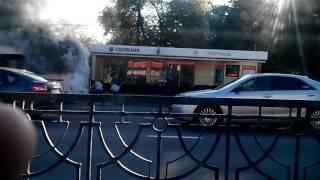 В Белгороде сгорел автобус