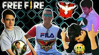 JUGANDO CON BOOMSNIPER & ANTRONIXX NOS ENCONTRAMOS 3 VECES LA ESCUADRA DE THEDONATO •FREE FIRE•