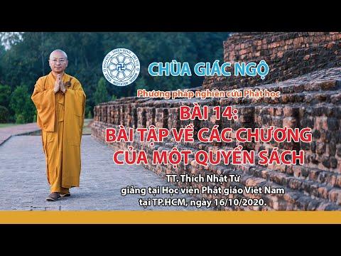 Bài tập về các chương của quyển sách - Phương pháp nghiên cứu Phật học