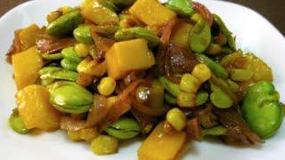 Habas Agridulces - Lima Beans Receta
