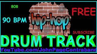 Rap Hip Hop Drum Track 90 bpm Loop 808 Bass FREE