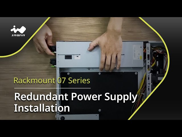 07 Series 1U Redundant Power Supply Installation