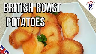 BRITISH FOOD Traditional Roast Potatoes Recipe British Cooking