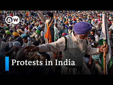 , title : 'Farmers' protests in India intensify | DW News