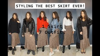 HOW TO STYLE LEOPARD PRINT   ONE SKIRT, SEVEN OUTFITS   COURTNEY WANDELOSKI