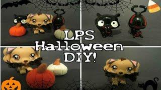 lps halloween diy demon and vampire custom pumpkins and cat costume